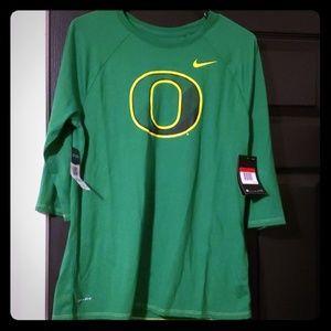 Nike Oregon Ducks Half Sleeve Large Shirt New